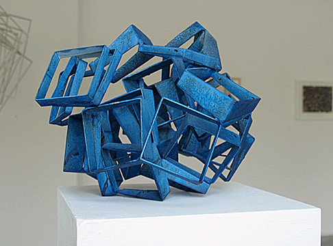 blue cut cubes